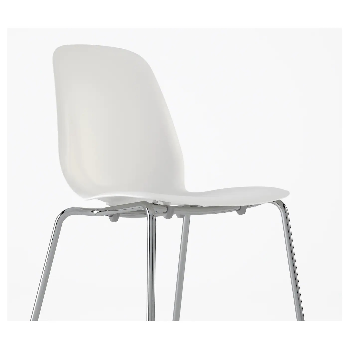 White Chair Ikea Leifarne Chair White Broringe Chrome Plated Ikea