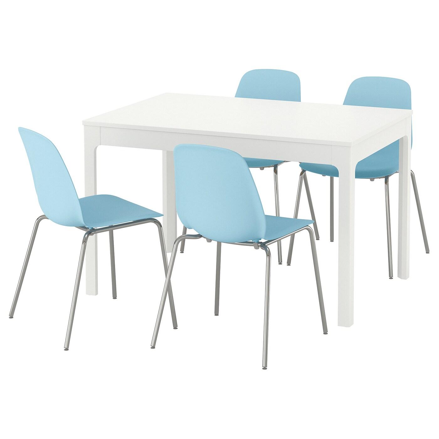Light Blue Dining Chairs Leifarne Ekedalen Table And 4 Chairs White Light Blue 120