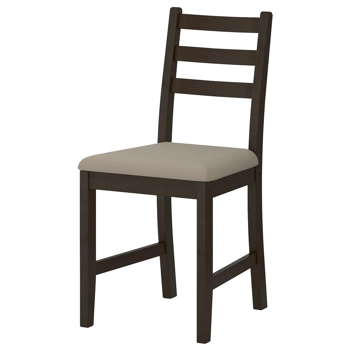 Lerhamn Chair Blackbrownramna Beige  Ikea