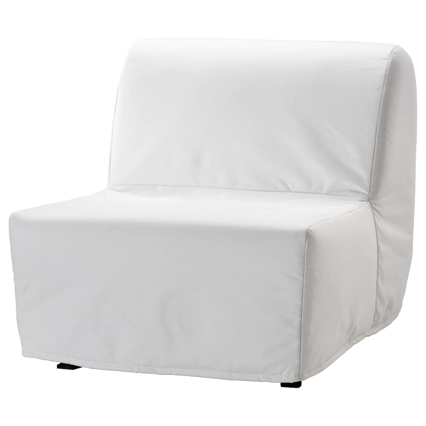 Foldable Bed Chair Lycksele LÖvÅs Chair Bed Ransta White
