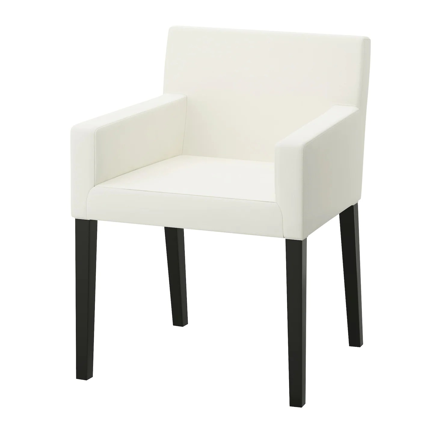 White Chair Ikea Nils Chair With Armrests Black Blekinge White Ikea