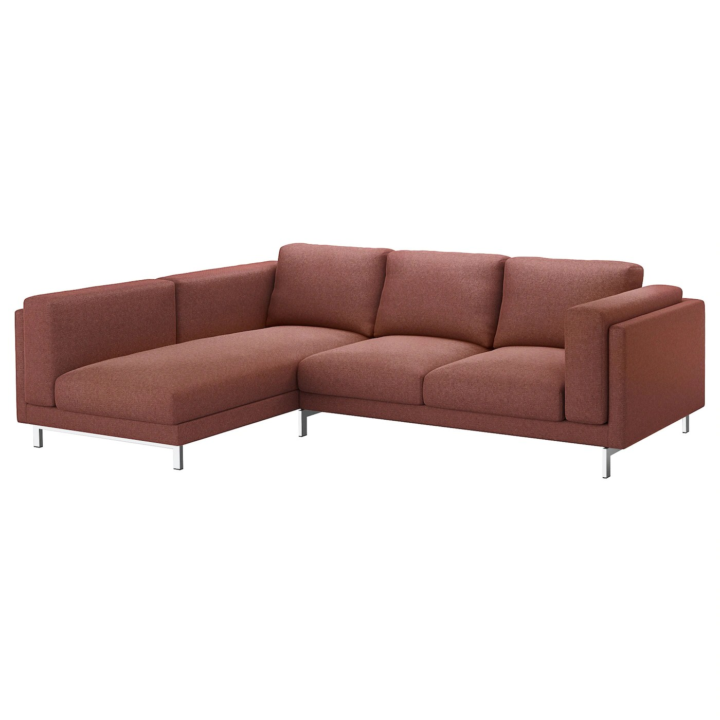 Ikea Sofa Nockeby Test Nockeby 3 Seat Sofa With Chaise Longue Left Tallmyra Rust