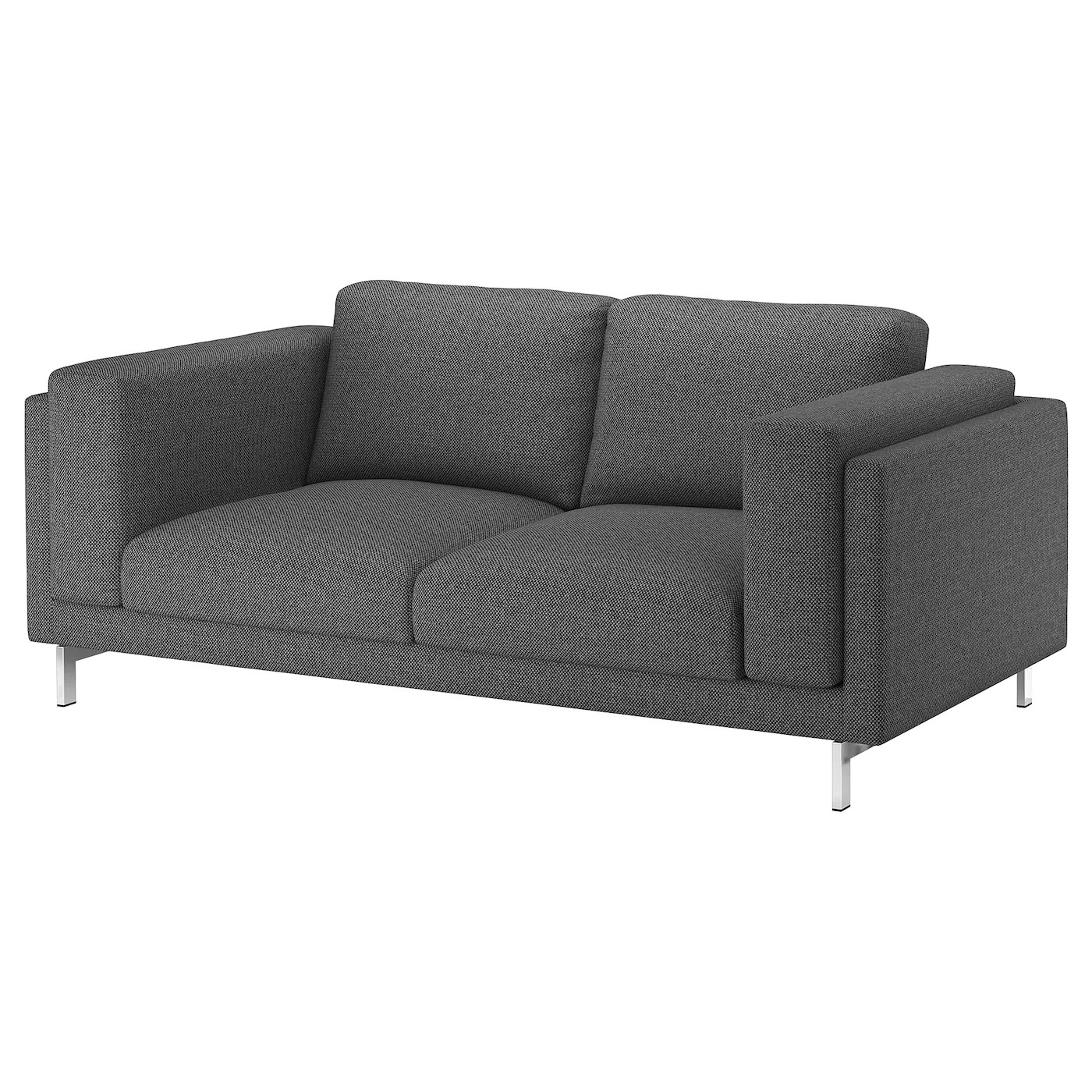 Ikea Sofa Nockeby Test Nockeby Two Seat Sofa Lejde Dark Grey Chrome Plated Ikea