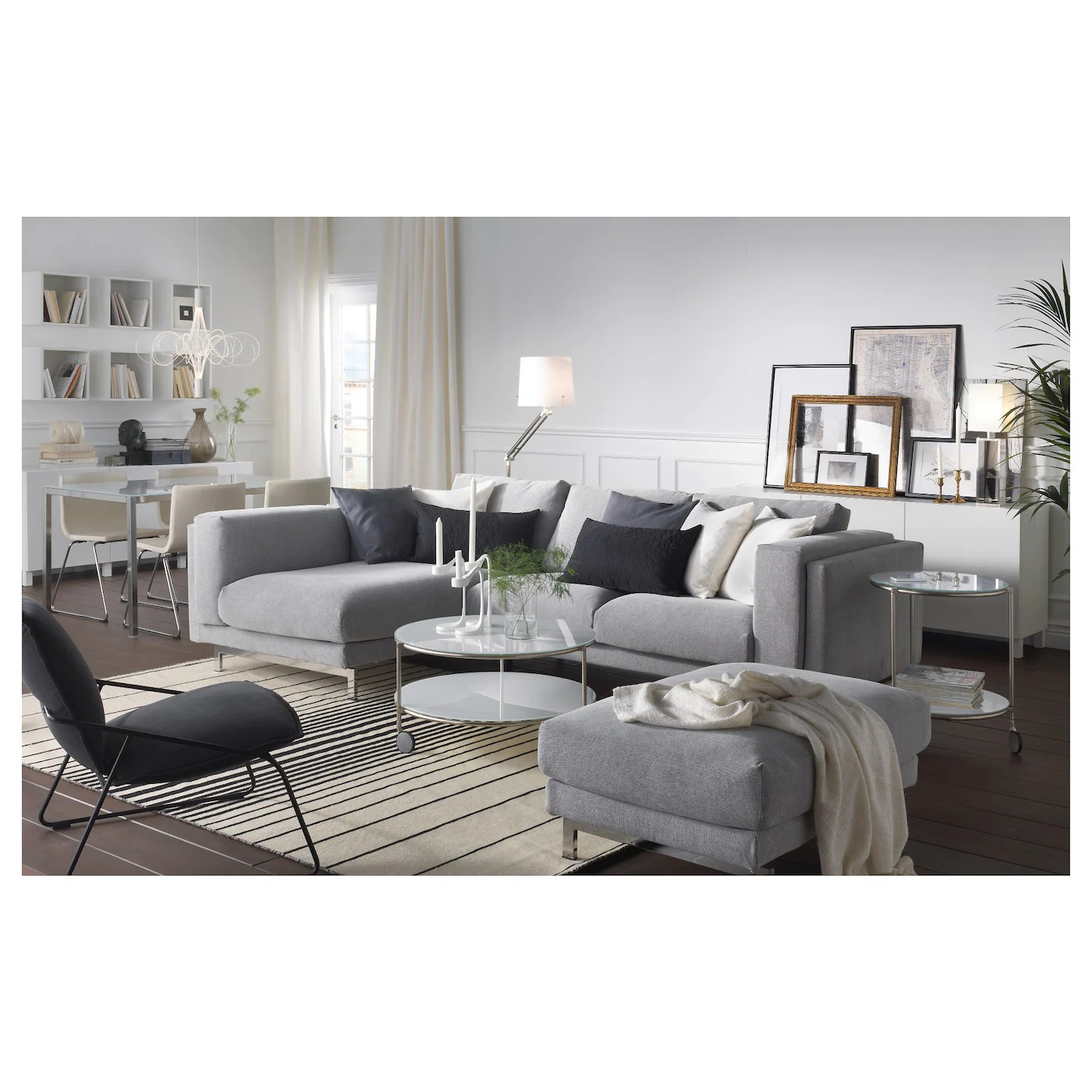 Ikea Sofa Nockeby Test Nockeby Two Seat Sofa W Chaise Longue Left Tallmyra White