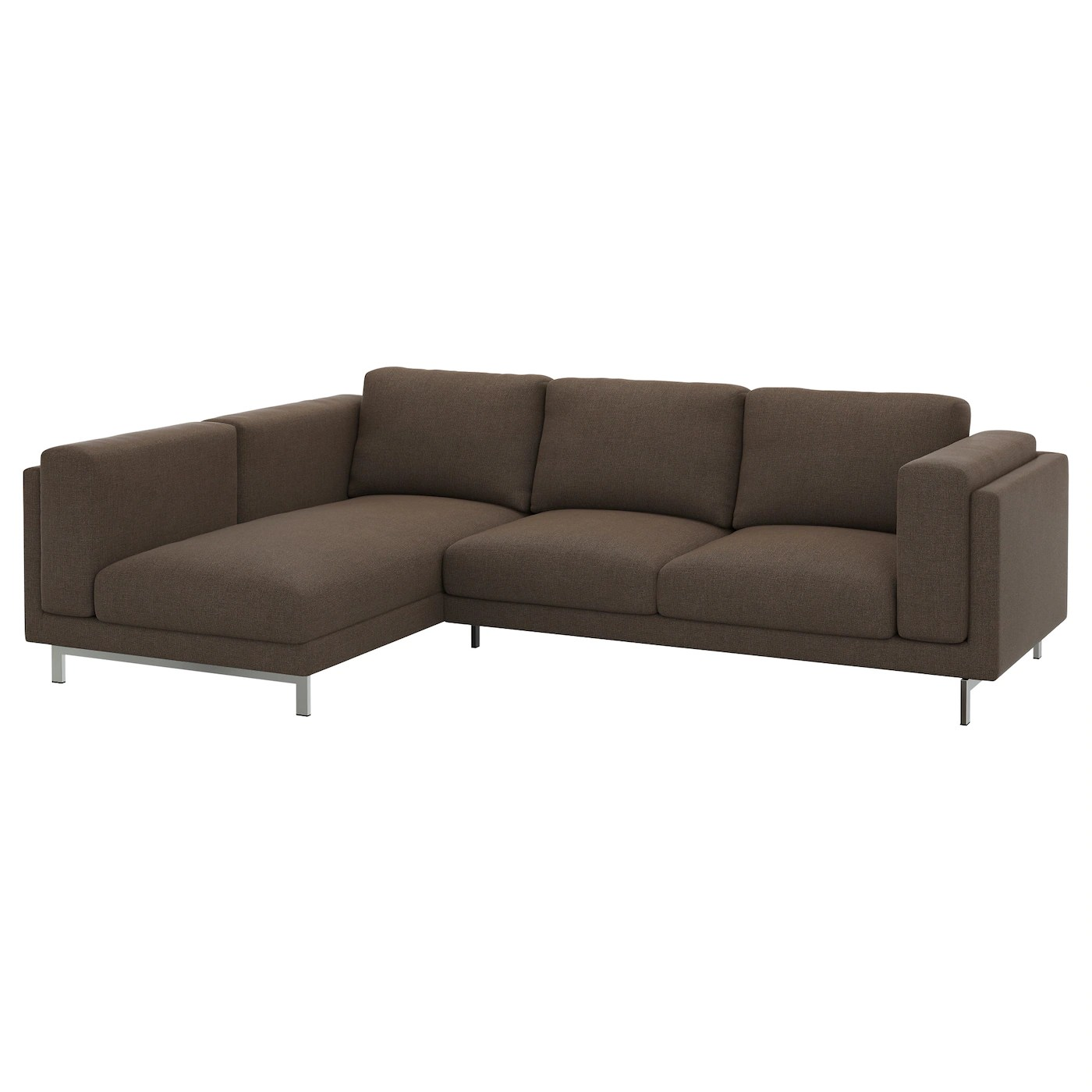 Ikea Sofa Nockeby Test Nockeby Two Seat Sofa W Chaise Longue Left Tenö Brown