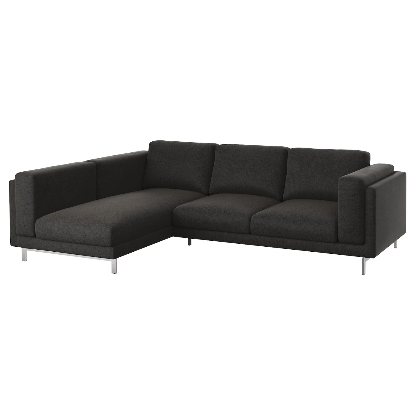 Ikea Sofa Nockeby Test Nockeby Two Seat Sofa W Chaise Longue Left Tenö Dark Grey