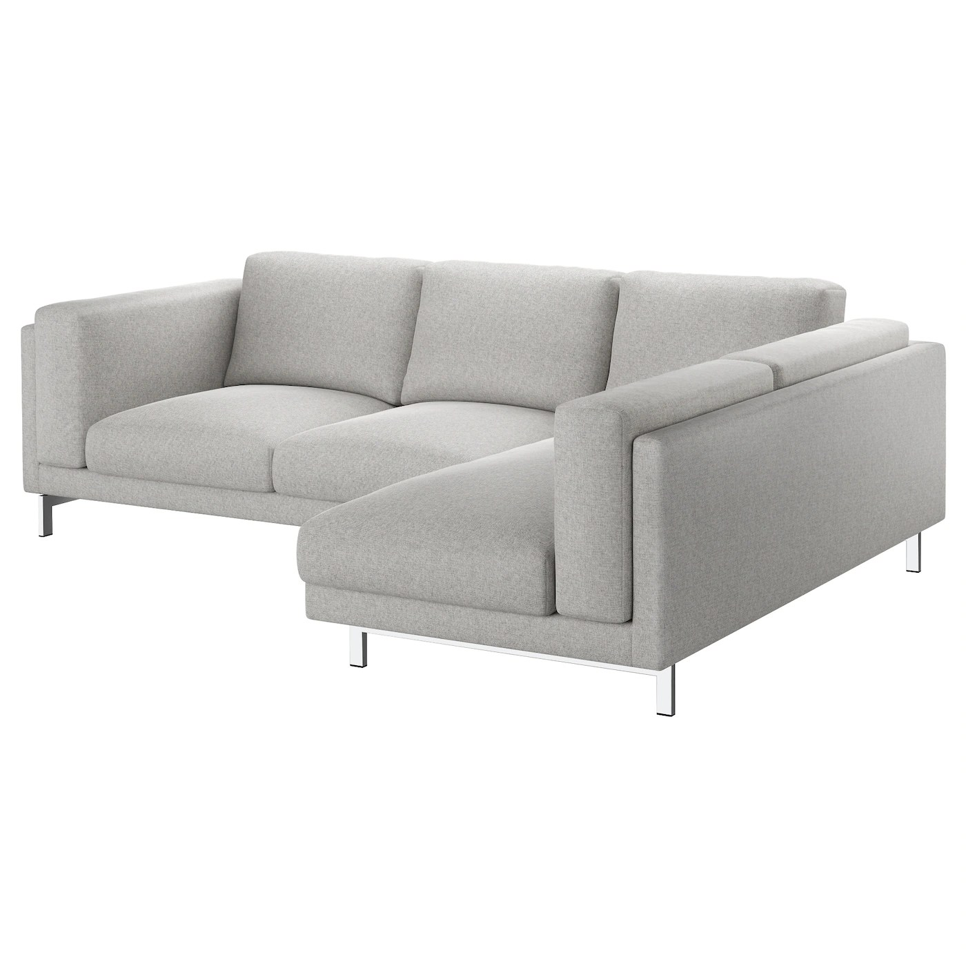 Ikea Sofa Nockeby Test Nockeby Two Seat Sofa W Chaise Longue Right Tallmyra White
