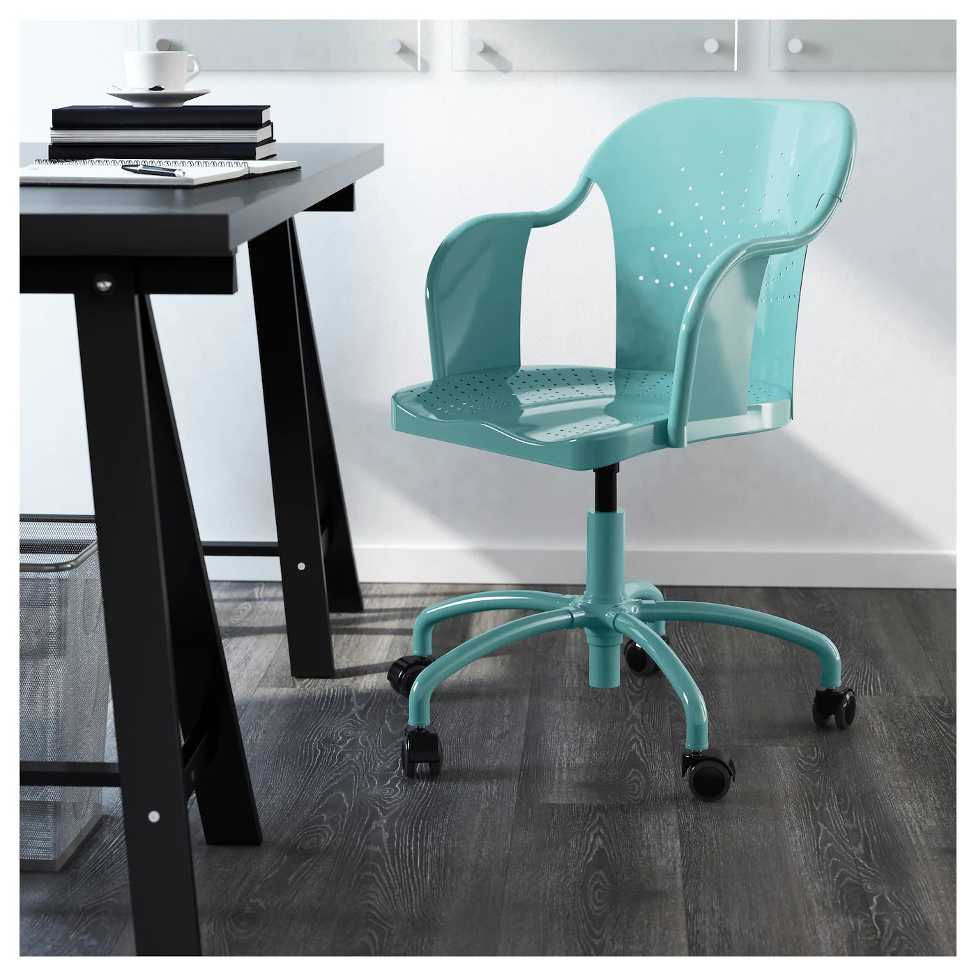 Turquoise Desk Chair Roberget Swivel Chair Turquoise Ikea