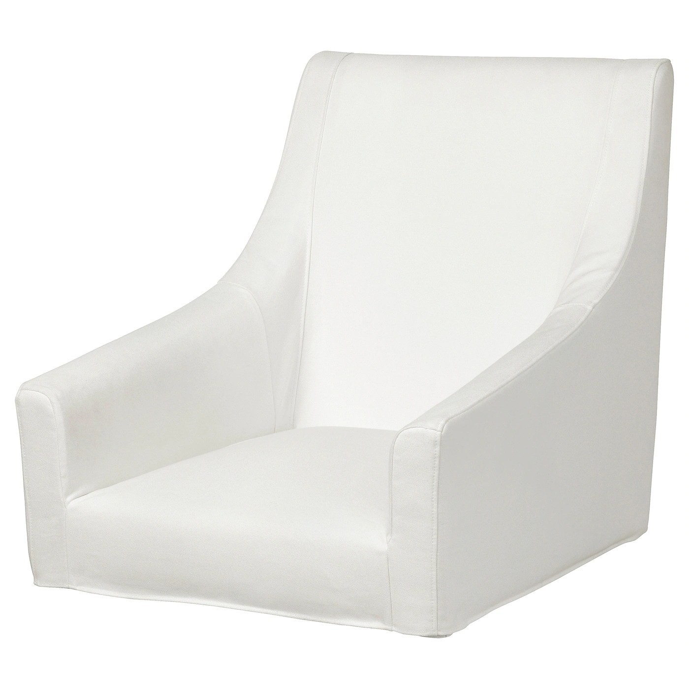 Cover For Chair Sakarias Cover For Chair With Armrests Inseros White