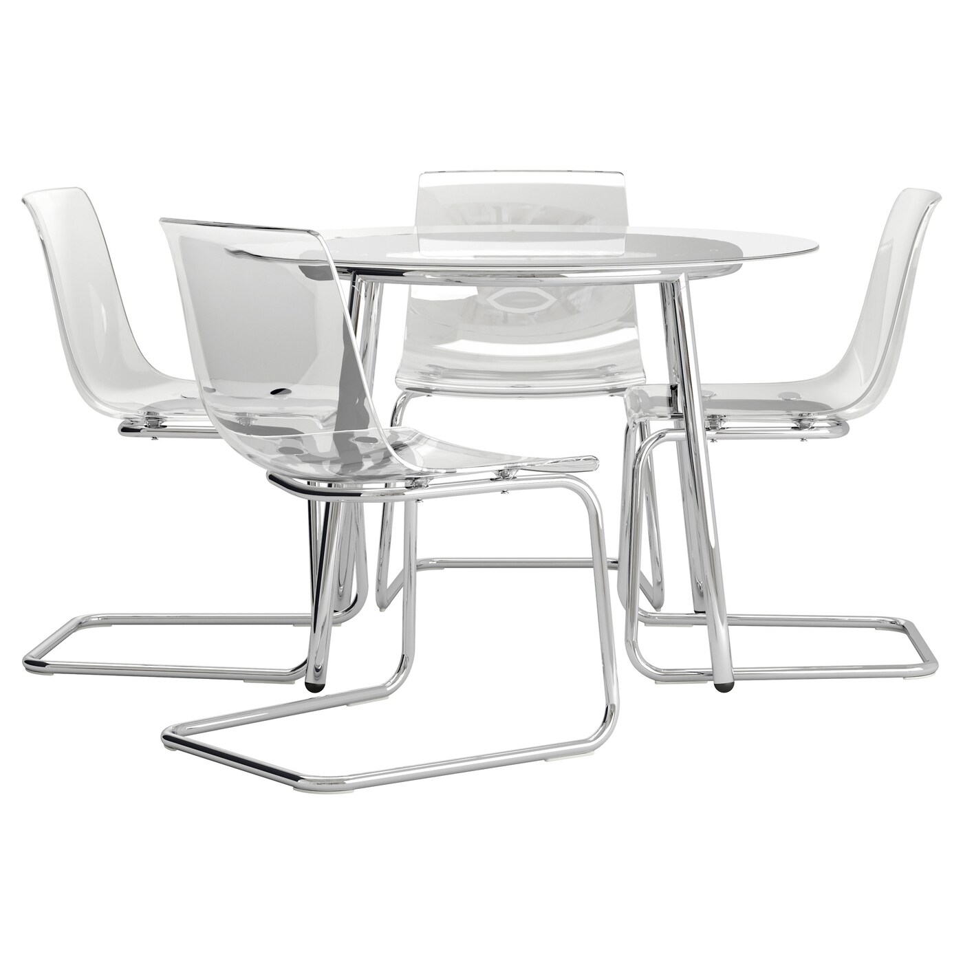 Glass Tables And Chairs Glass Dining Tables Ikea