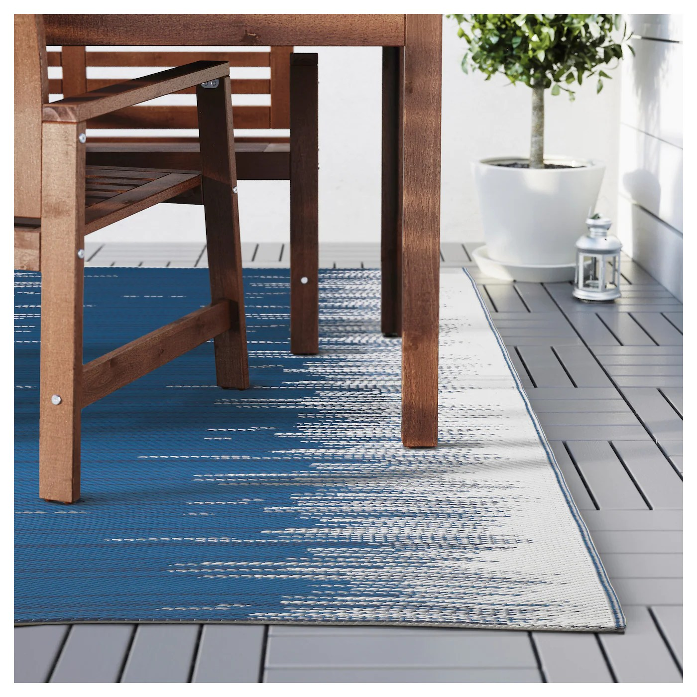 Ikea Outdoor Teppich Sommar 2016 Sommar 2016 Rug Flatwoven In Outdoor Striped Blue White