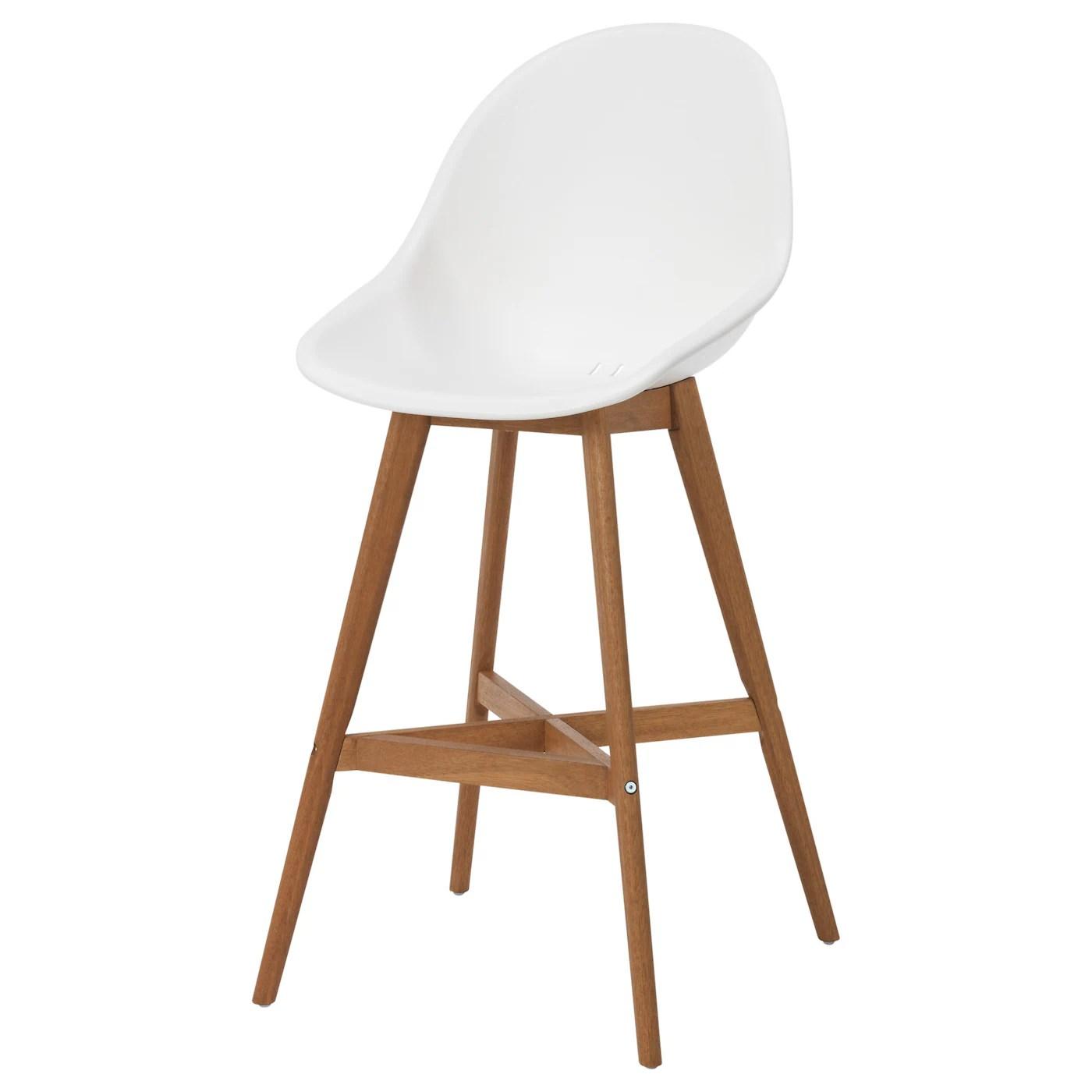 ikea bar chair black folding chairs fanbyn stool with backrest white 74 cm