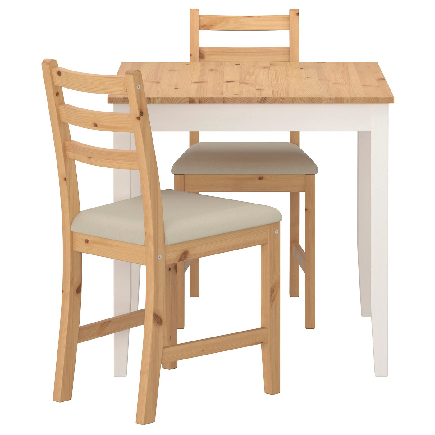 Table With Two Chairs Lerhamn Table And 2 Chairs Light Antique Stain Ramna Beige