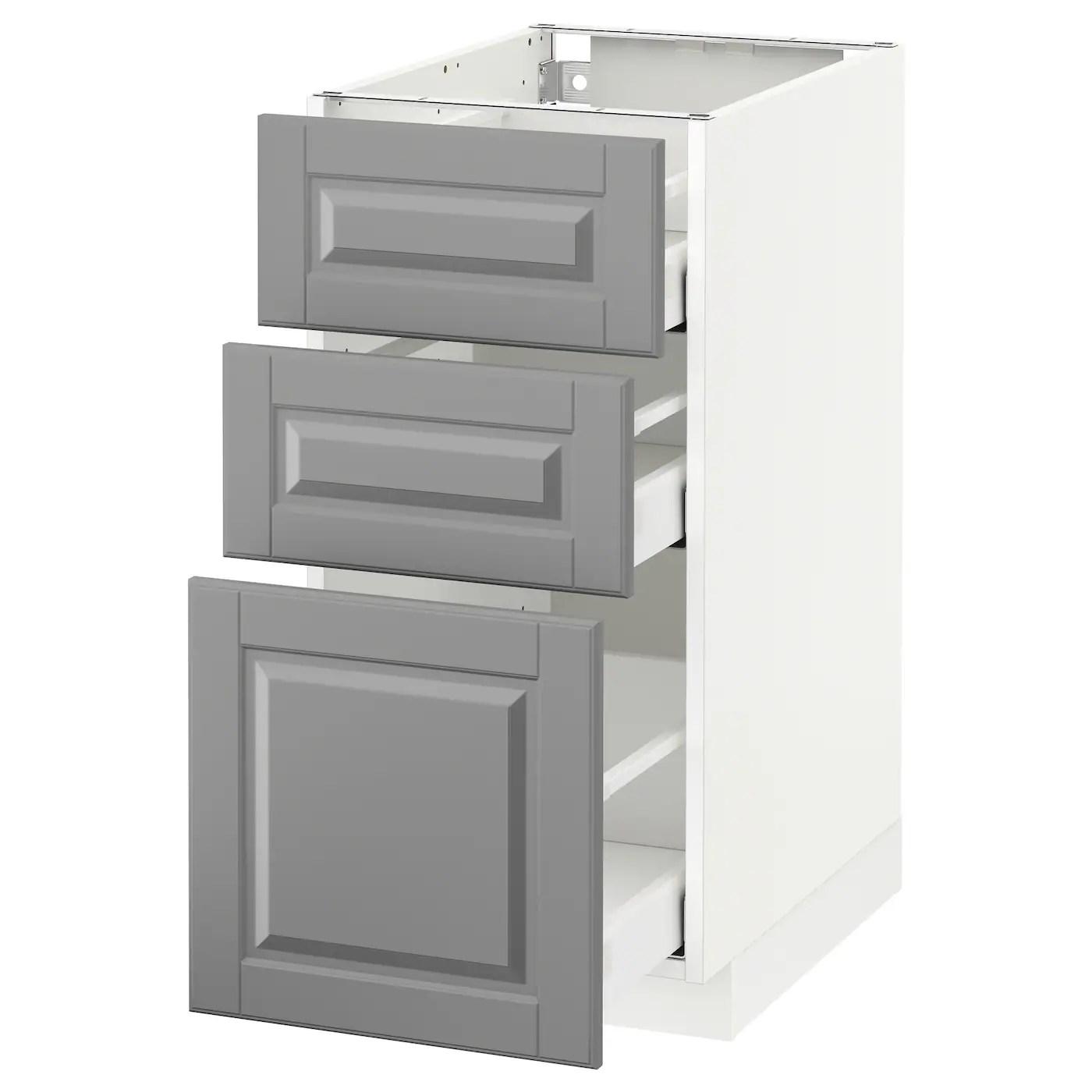 5 drawer kitchen base cabinet with pantry metod maximera 3 drawers white bodbyn
