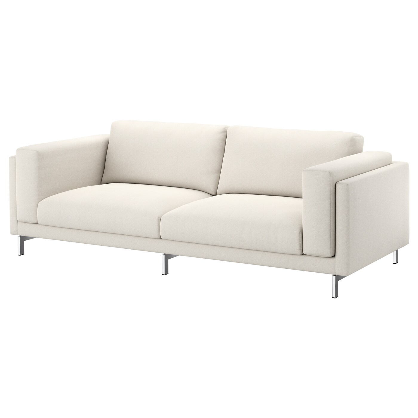 Ikea Sofa Nockeby Test Nockeby Three Seat Sofa Tallmyra Light Beige Chrome Plated