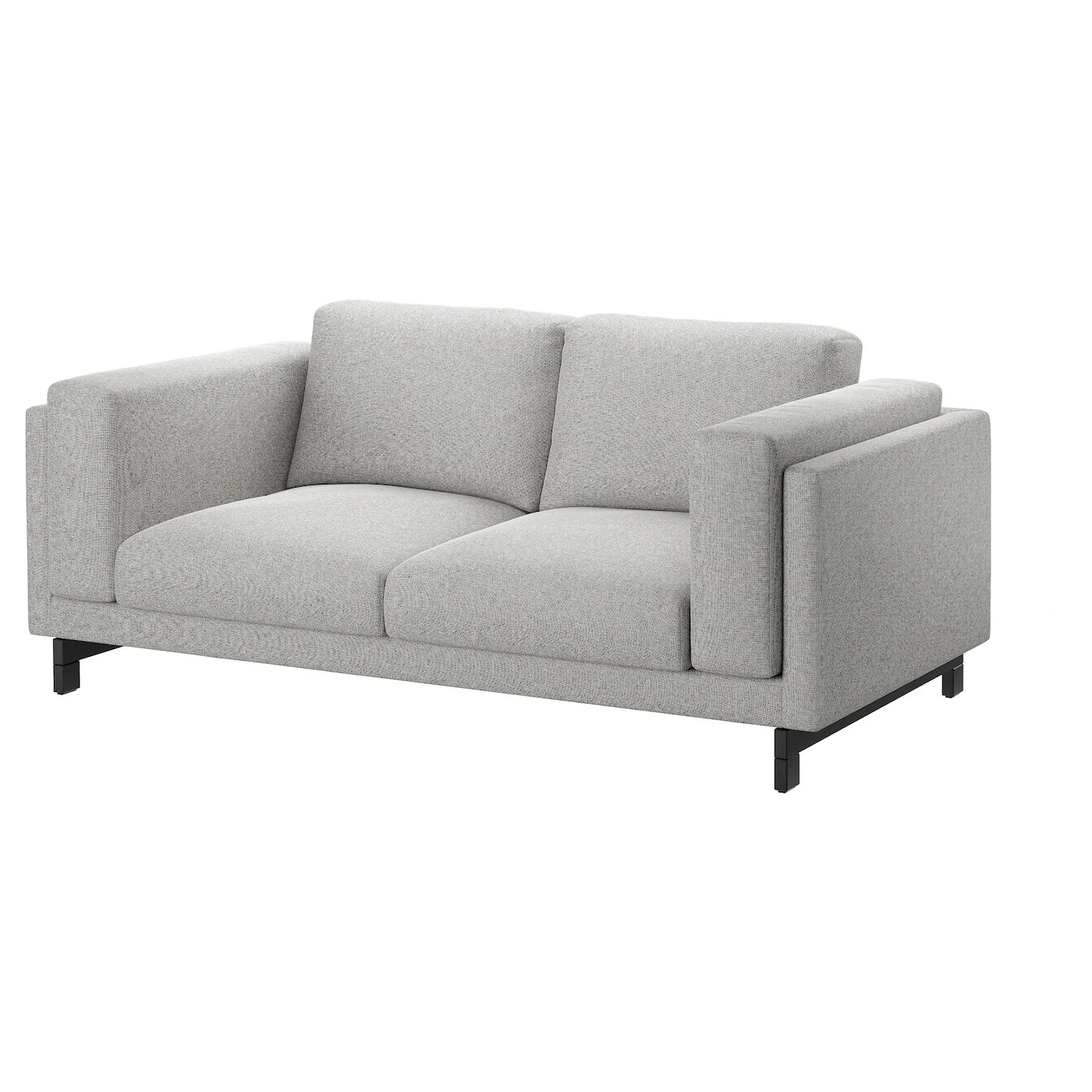 Ikea Sofa Nockeby Test Nockeby Two Seat Sofa Tallmyra White Black Wood Ikea