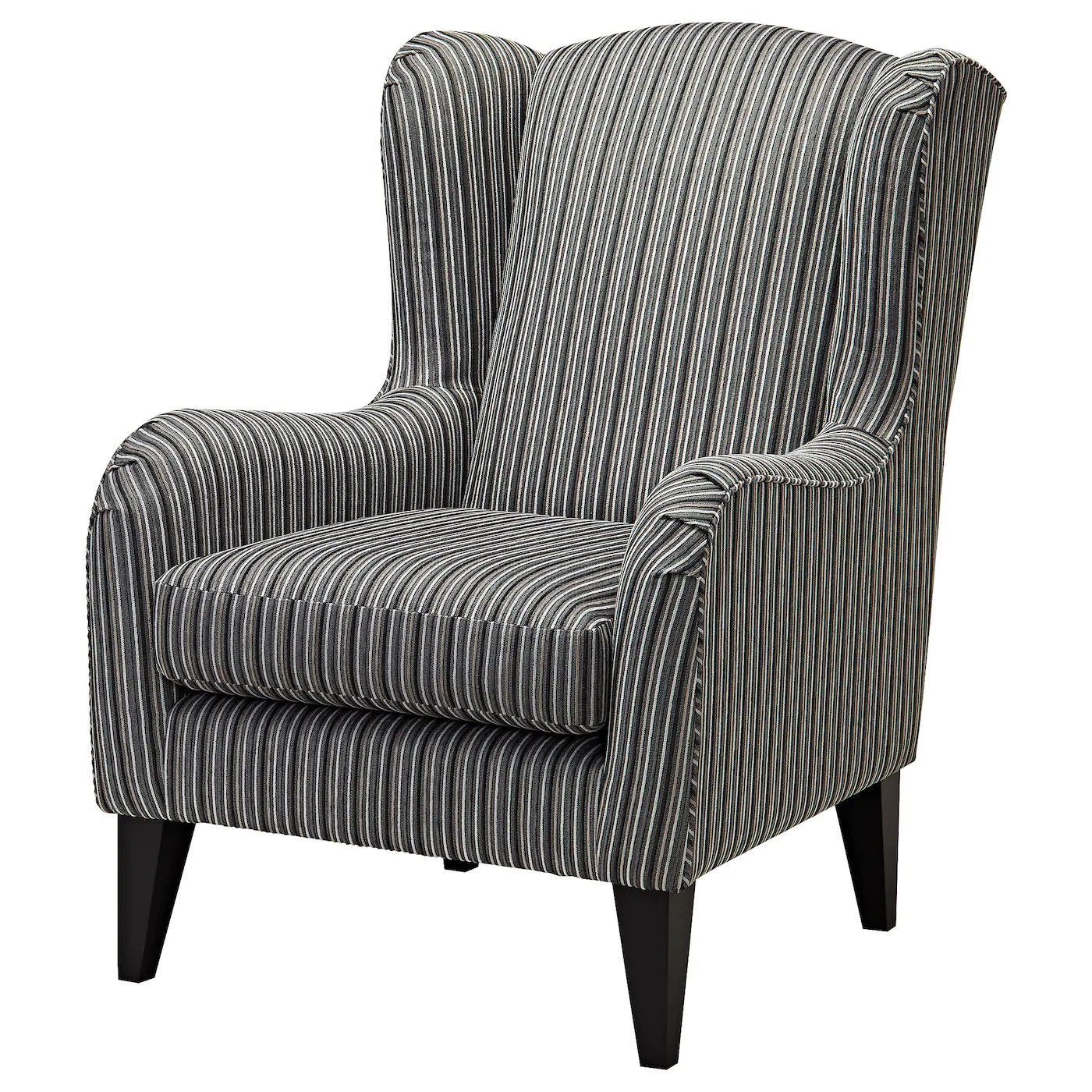White Wing Chair Ramsebo Wing Chair Dark Grey Stripe Ikea