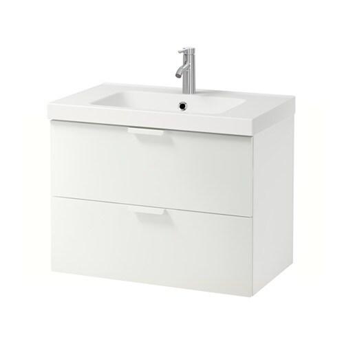 GODMORGON  ODENSVIK Mobile per lavabo con 2 cassetti  bianco  IKEA