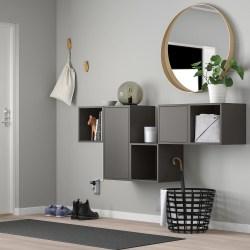 EKET Gabinete de pared gris oscuro IKEA