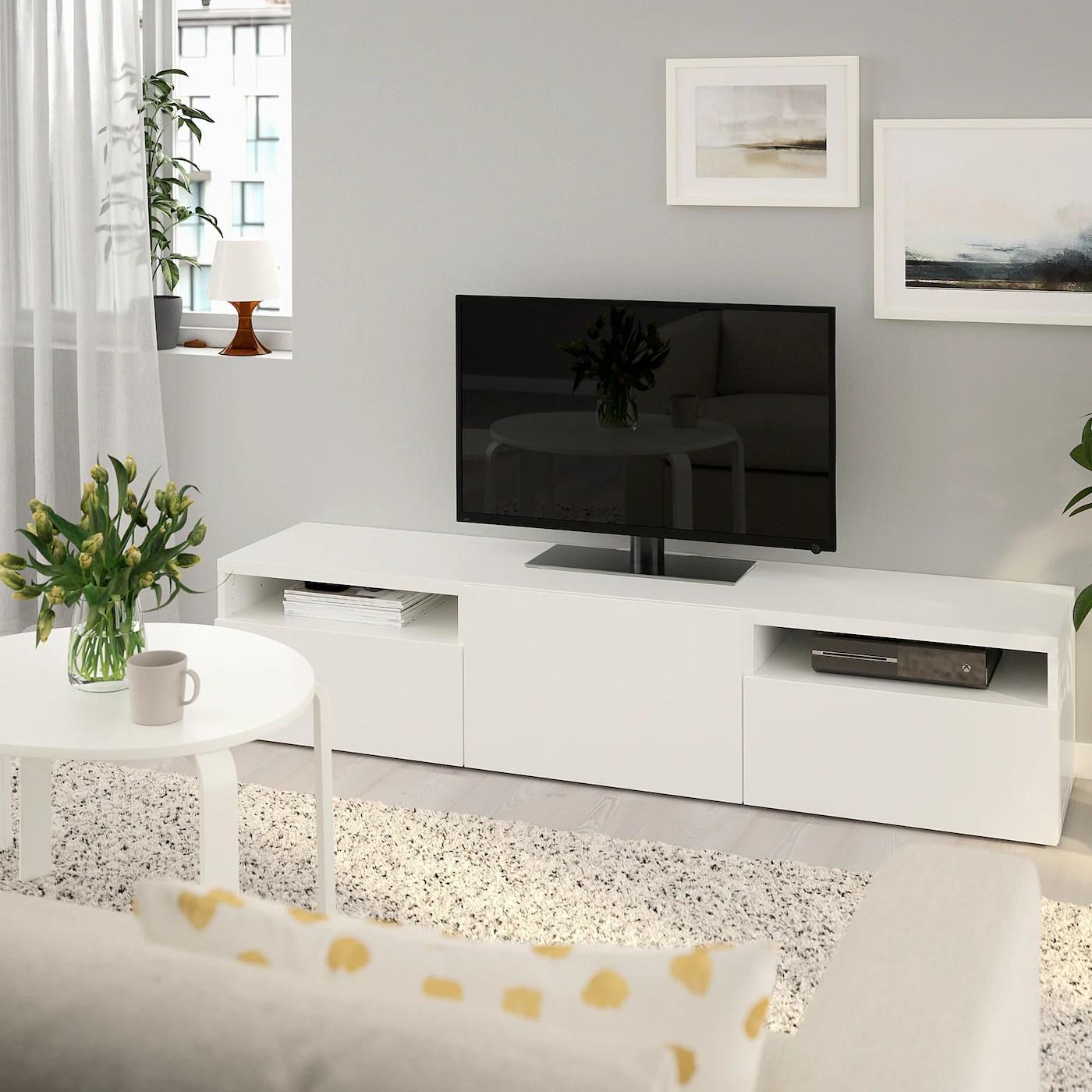 Ikea Tv Unit Besta Ikea Besta Selsviken Tv Unit With Doors Oak