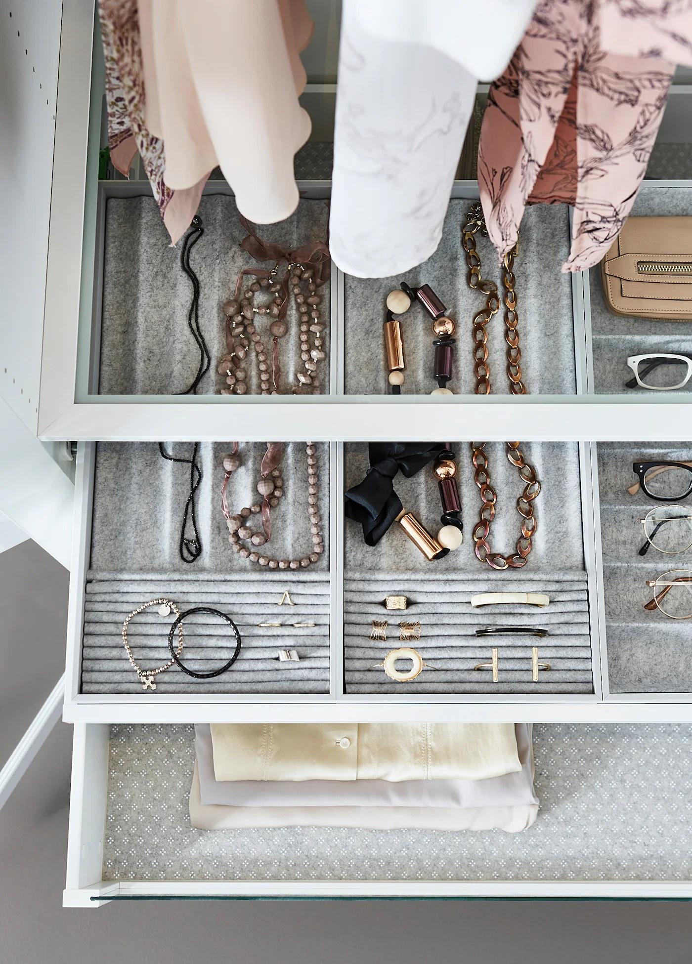 Jewellery Organizer Ikea : jewellery, organizer, KOMPLEMENT, Insert, Pull-out, Tray,, Light, Gray,, 3/8x22, 7/8