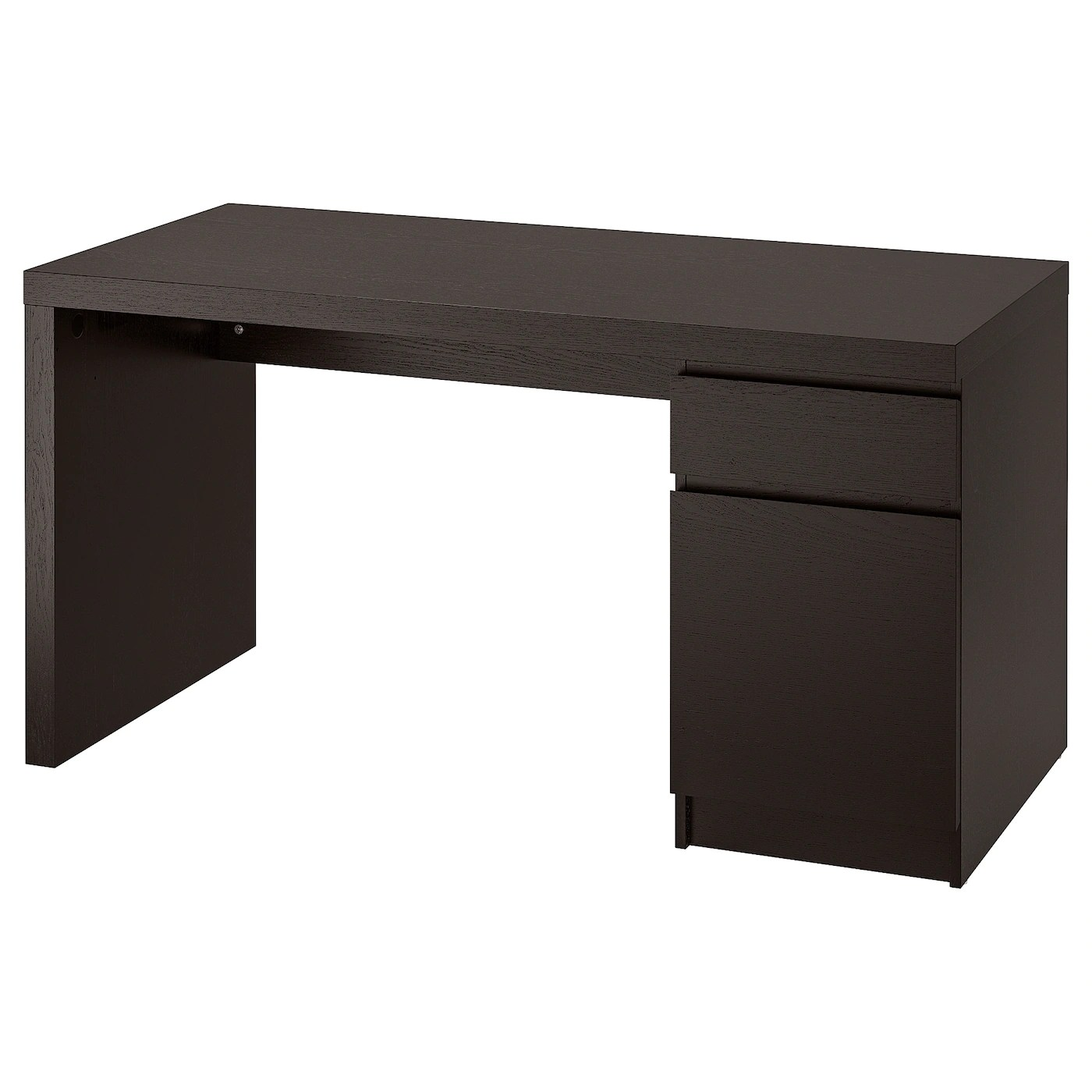 Malm Desk Black Brown 55 1 8x25 5 8