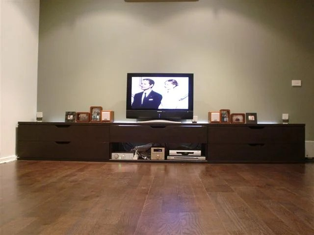 Extra long TV bench