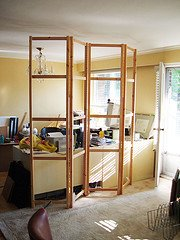 Diy A Room Divider From Ivar Units Ikea Hackers