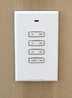 x-10 switch for wardrobe lighting