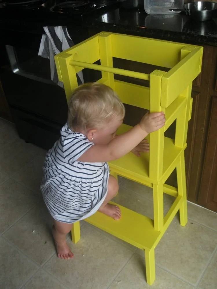 Learning tower with bekv m stool ikea hackers for Ikea montessori hack