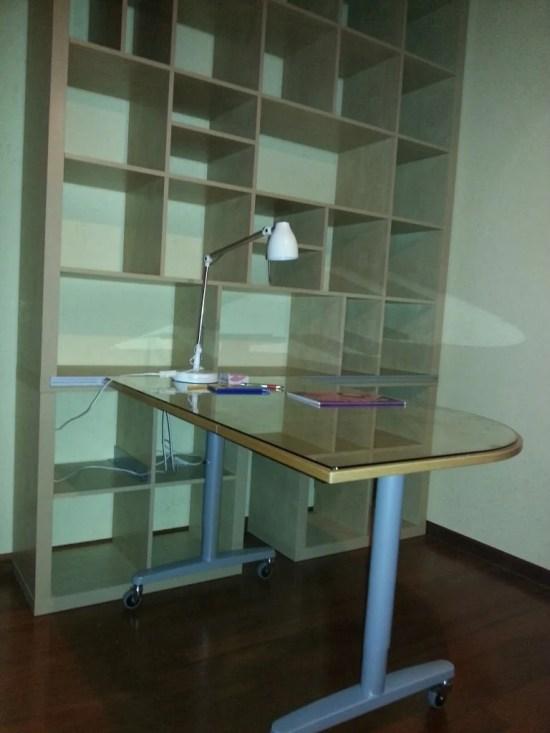 Sliding Galant Desk On A Big Expedit Composition Ikea