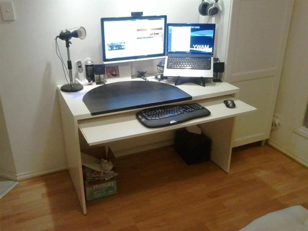 add a keyboard tray