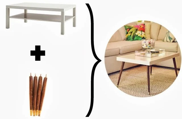 Ikea Hack - DIY Mid-Century Modern Coffee Table by Triple Max Tons 3e-705401