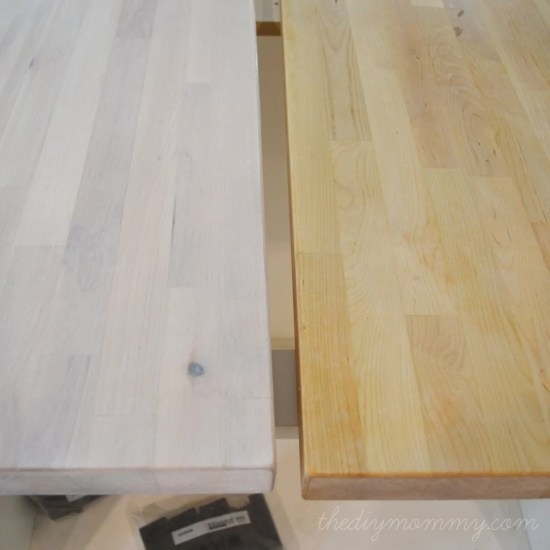 How To Whitewash Amp Seal Numerar Butcher Block Counters