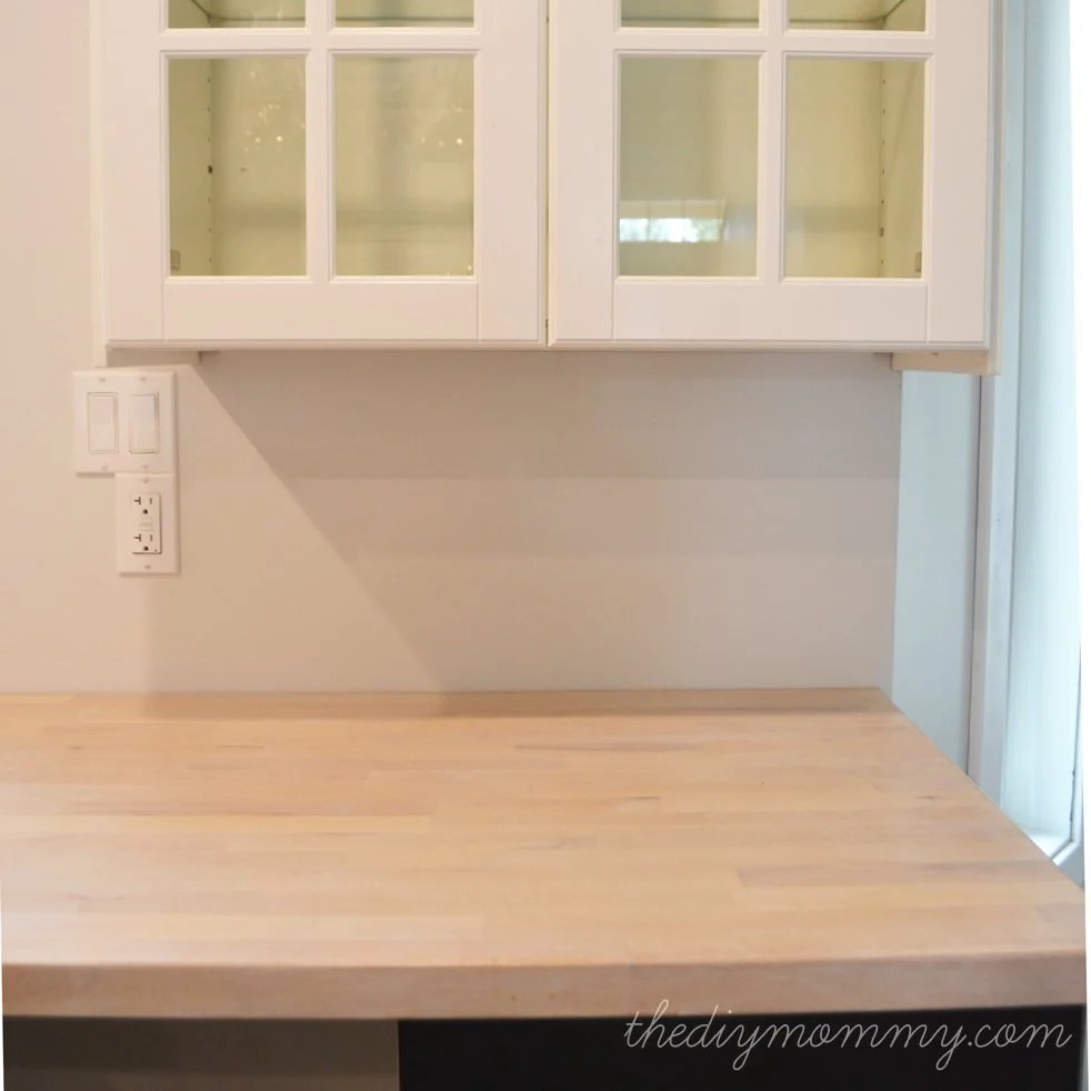 How to whitewash  Seal Numerar Butcher Block Counters