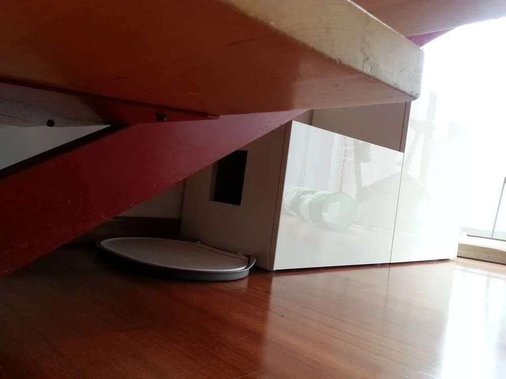Another Besta cat litter under the stairs  IKEA Hackers