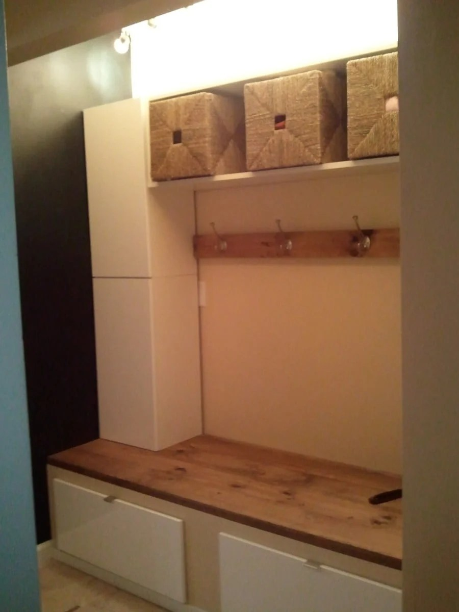 mudroom hack with some help from rationell ikea hackers. Black Bedroom Furniture Sets. Home Design Ideas