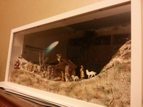 Christmas Nativity With 2 RIBBA FRAMES And 35 Cm Statues