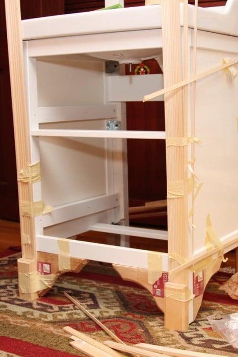 Sink Cabinet Change Style Ikea Hackers