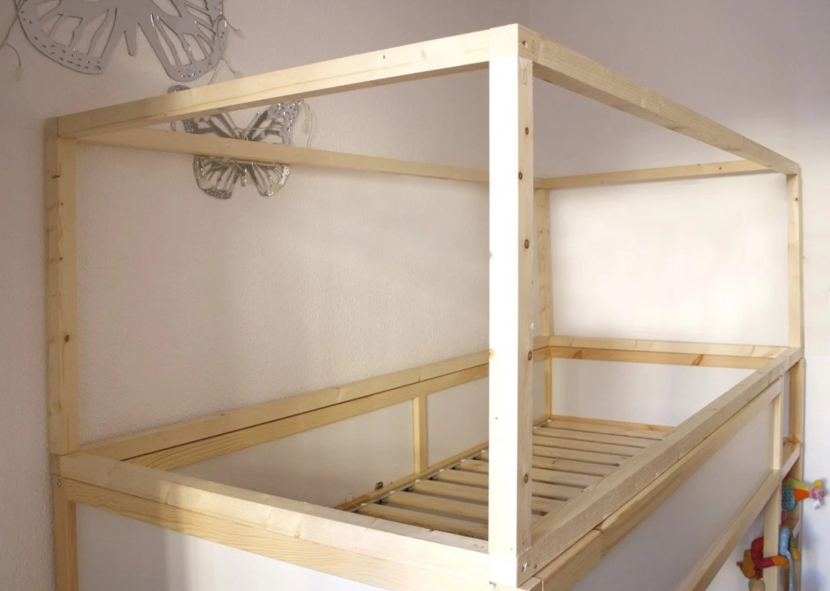 Diy Wood House With Kura Beds Ikea Hackers
