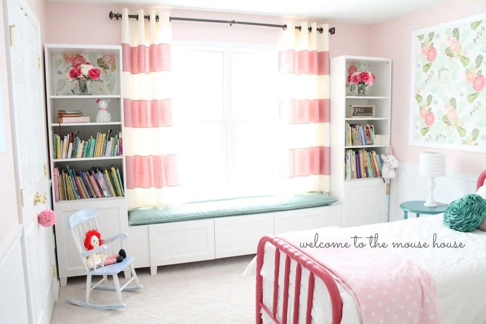 BESTA Window Seat For Little Girl Room