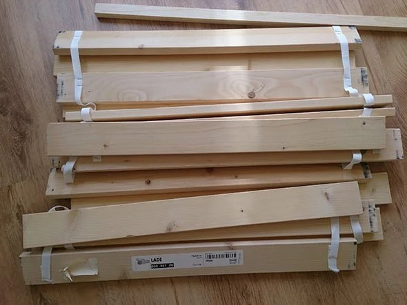 Diy Coffee Table From Malm Bed Slats Ikea Hackers