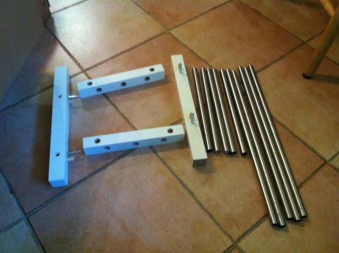 Chopped up Tjusig Welly Rack IKEA Hackers