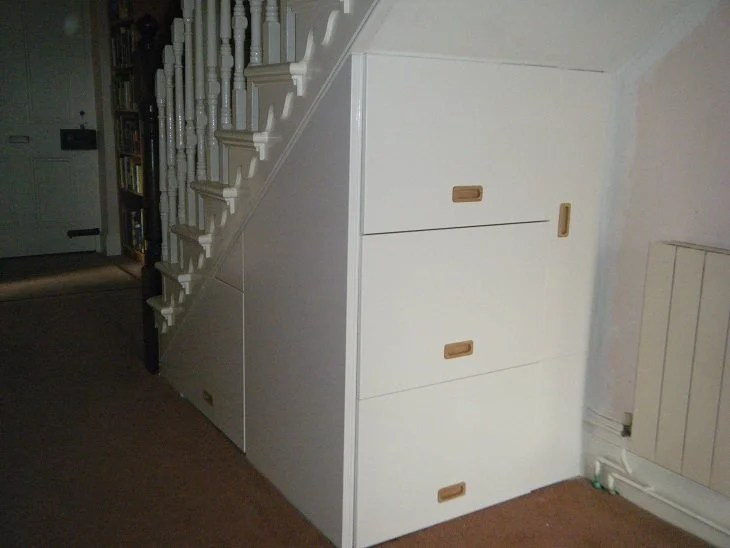 The understairs storage metod ikea hackers for Kitchen units under stairs
