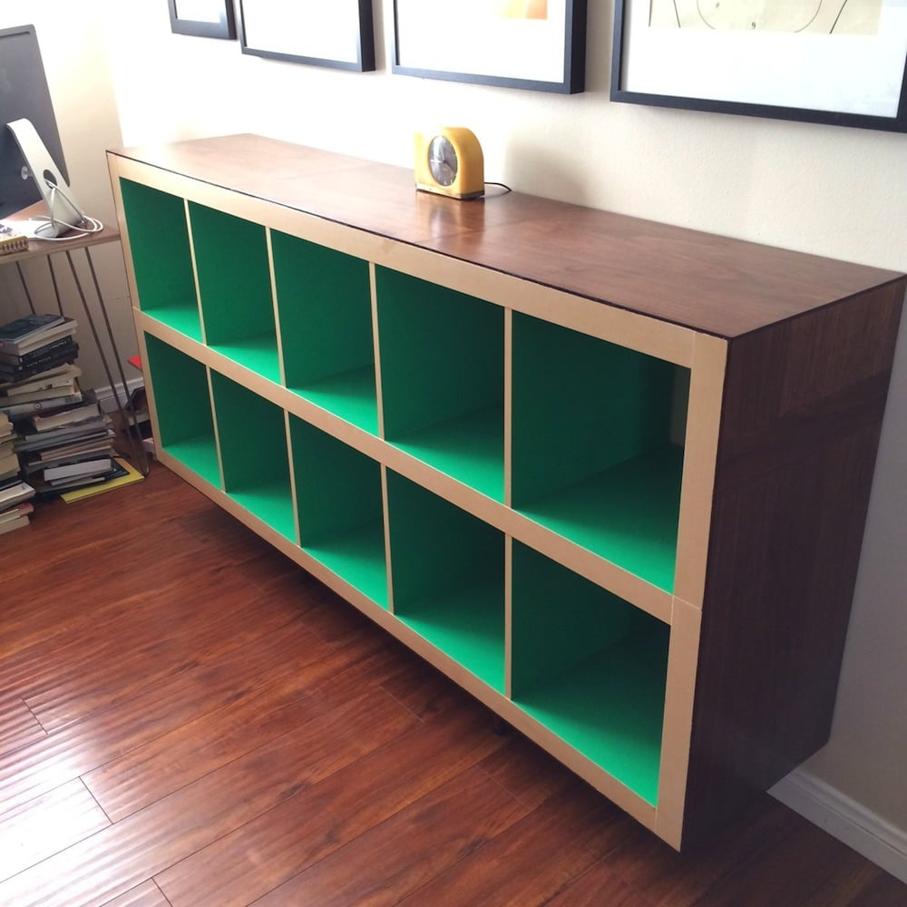 elevated long bookcase ikea hackers. Black Bedroom Furniture Sets. Home Design Ideas