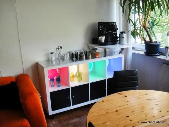 expedit coffee bar ikea hackers. Black Bedroom Furniture Sets. Home Design Ideas