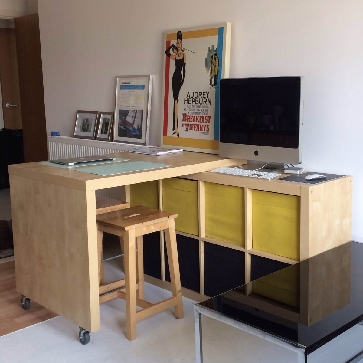 Expedit and bosse table breakfast bar workspace with for Email ikea com
