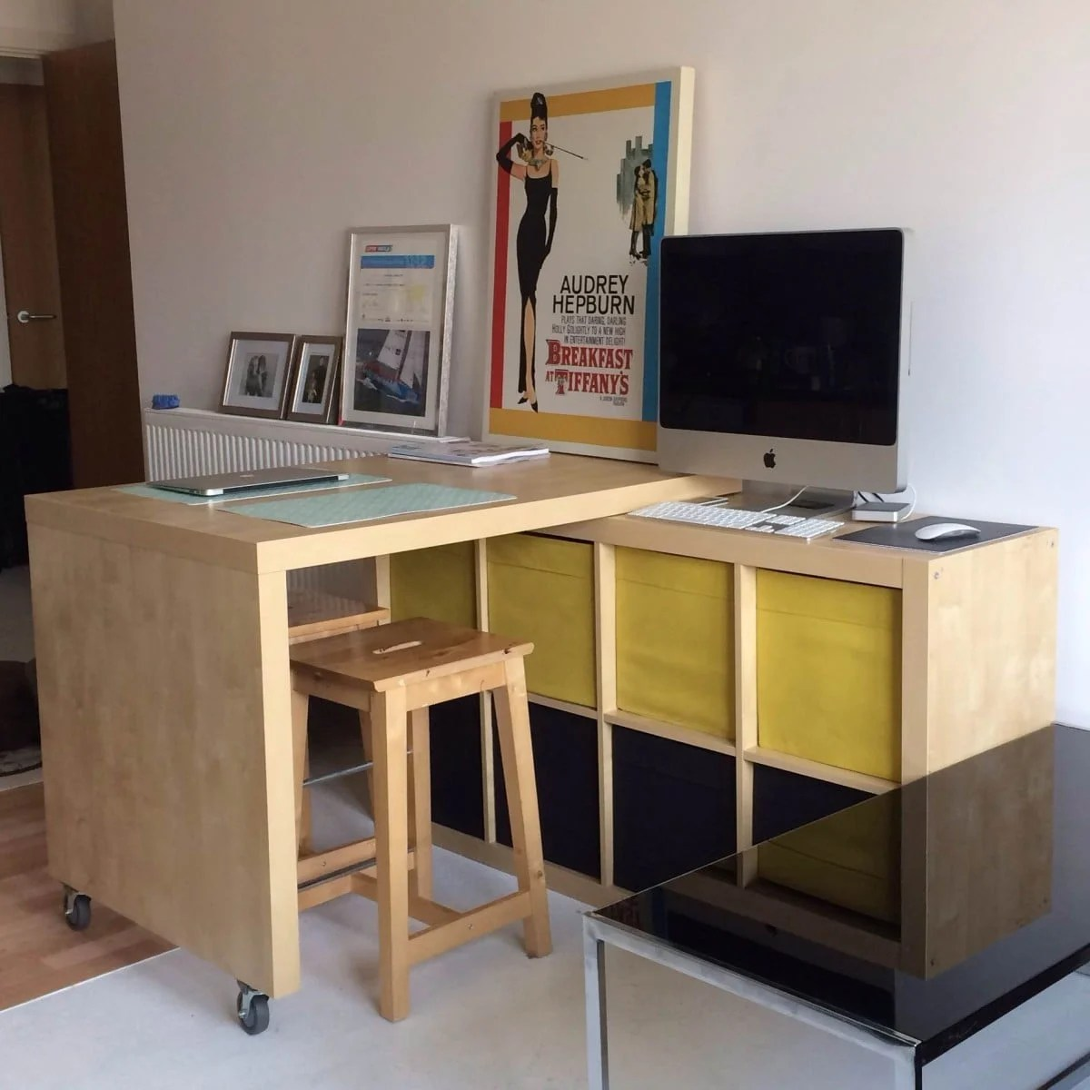 Hönefoss Ikea Expedit And Bosse Table Breakfast Bar Workspace With