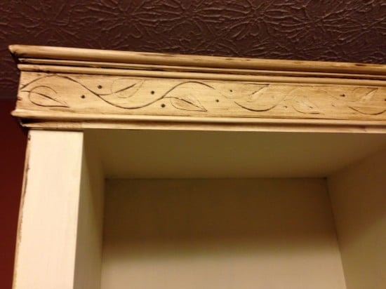 The dark wax helped to bring out the moulding detail