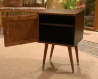 Expedit leftover become mid century style bedside table ...